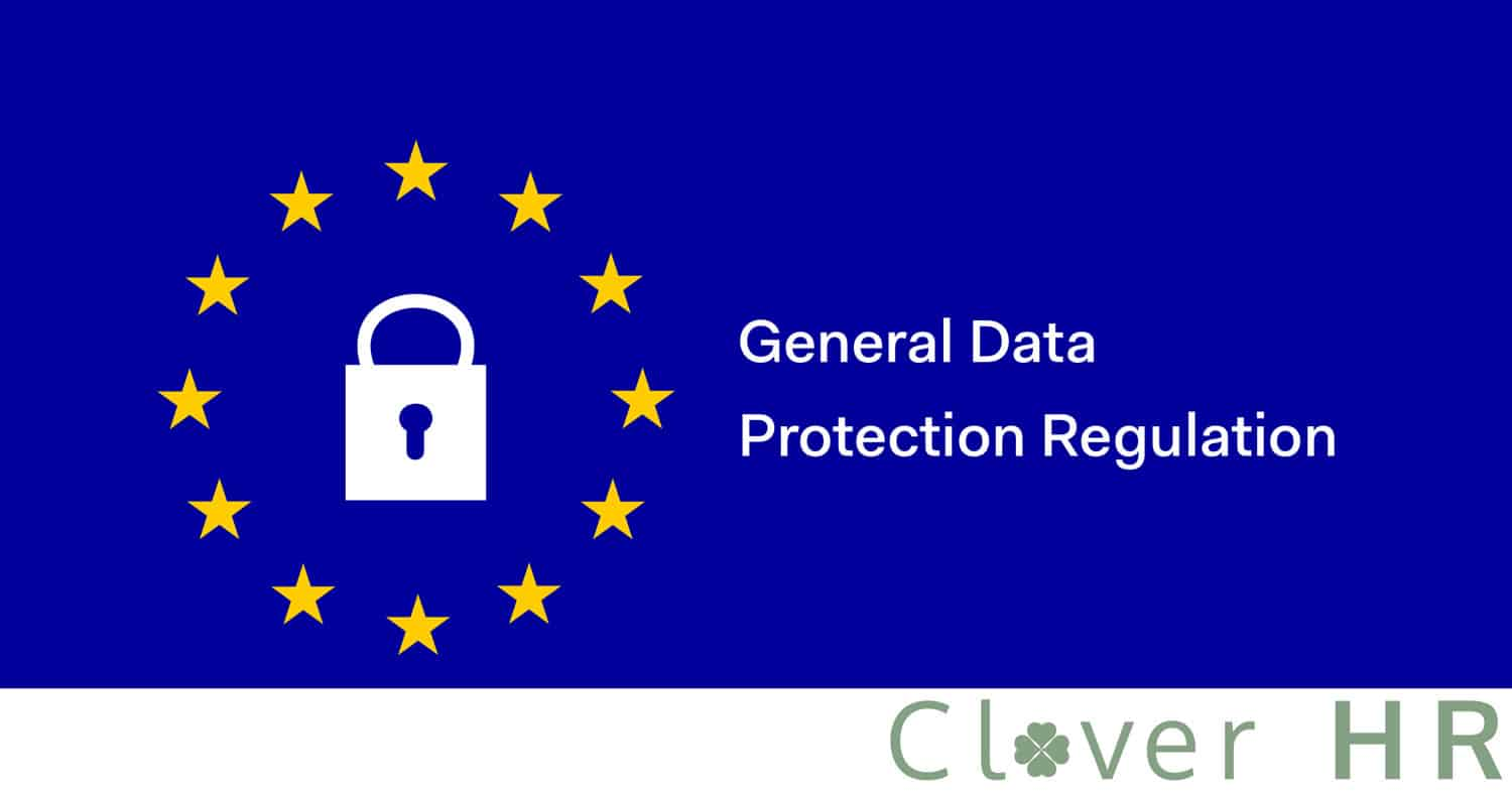 GDPR stock photo with Clover HR logo