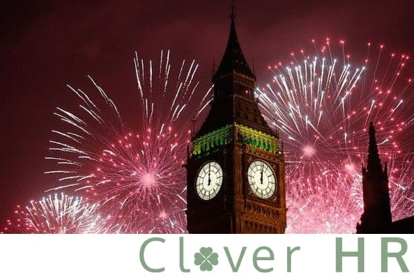 Big Ben photo with Clover HR logo