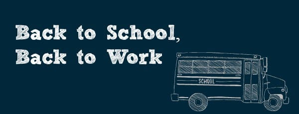 Back to school back to work header