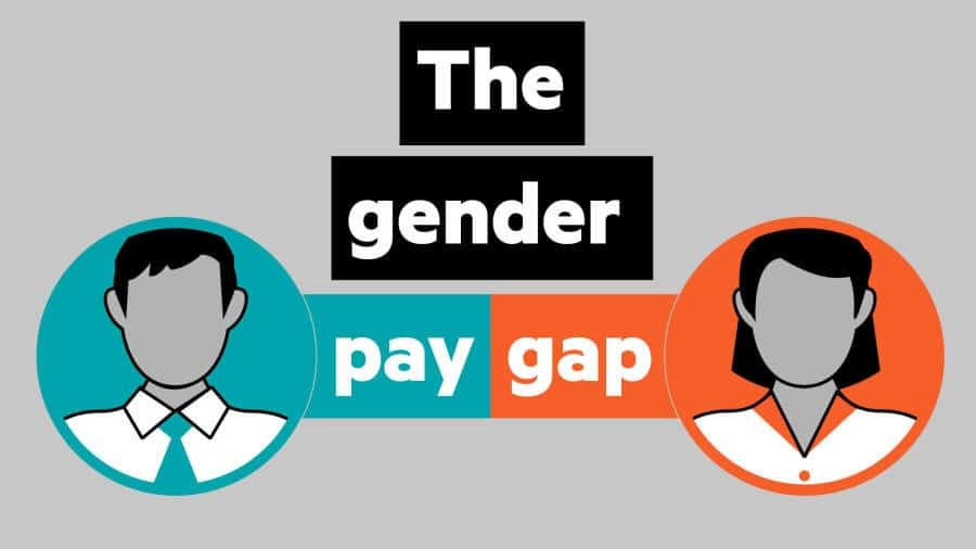 Gender pay gap graphic