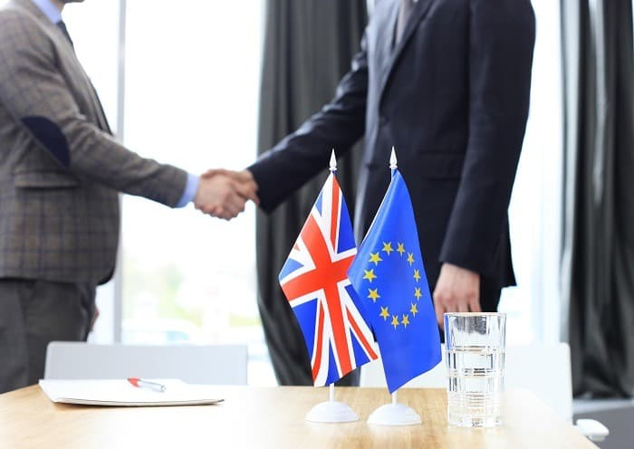 Brexit negotiation stock photo