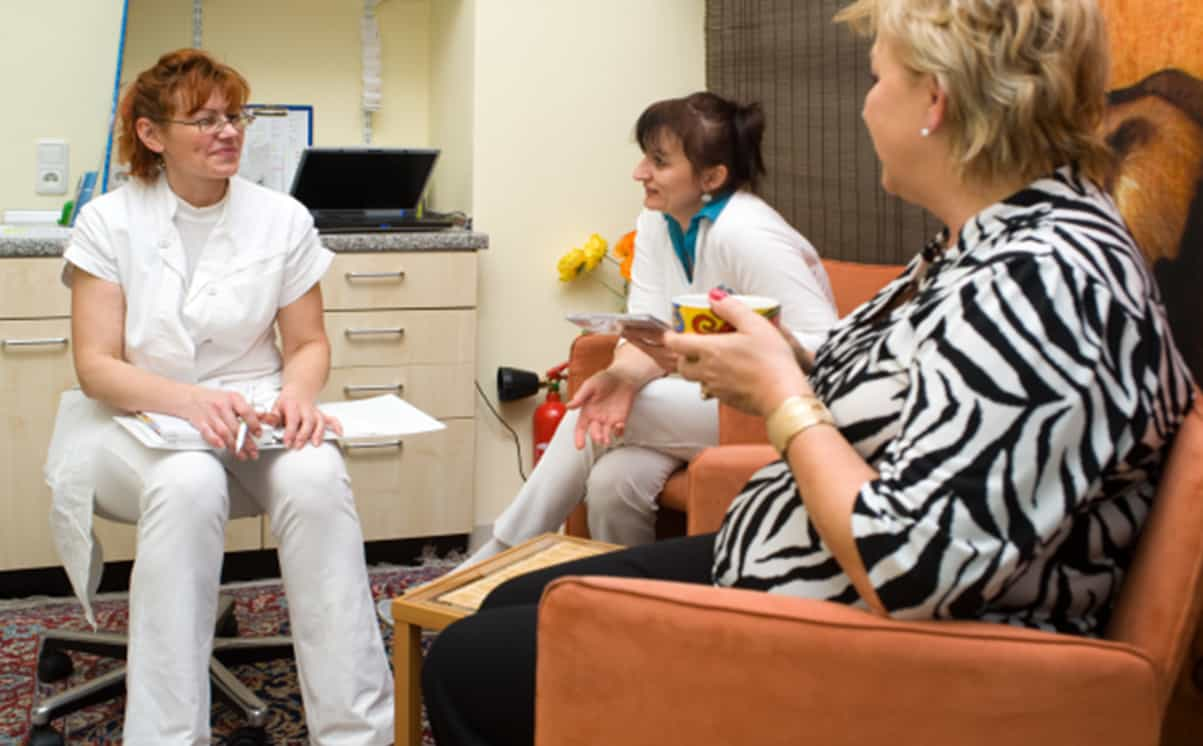 Women at a clinic