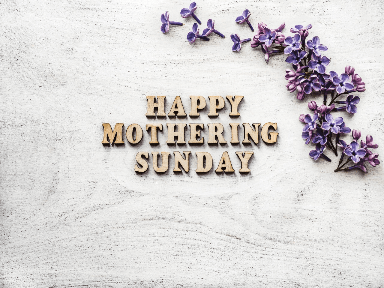 'happy mothering sunday' stock image