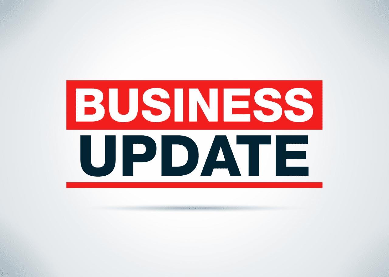 'business update' header