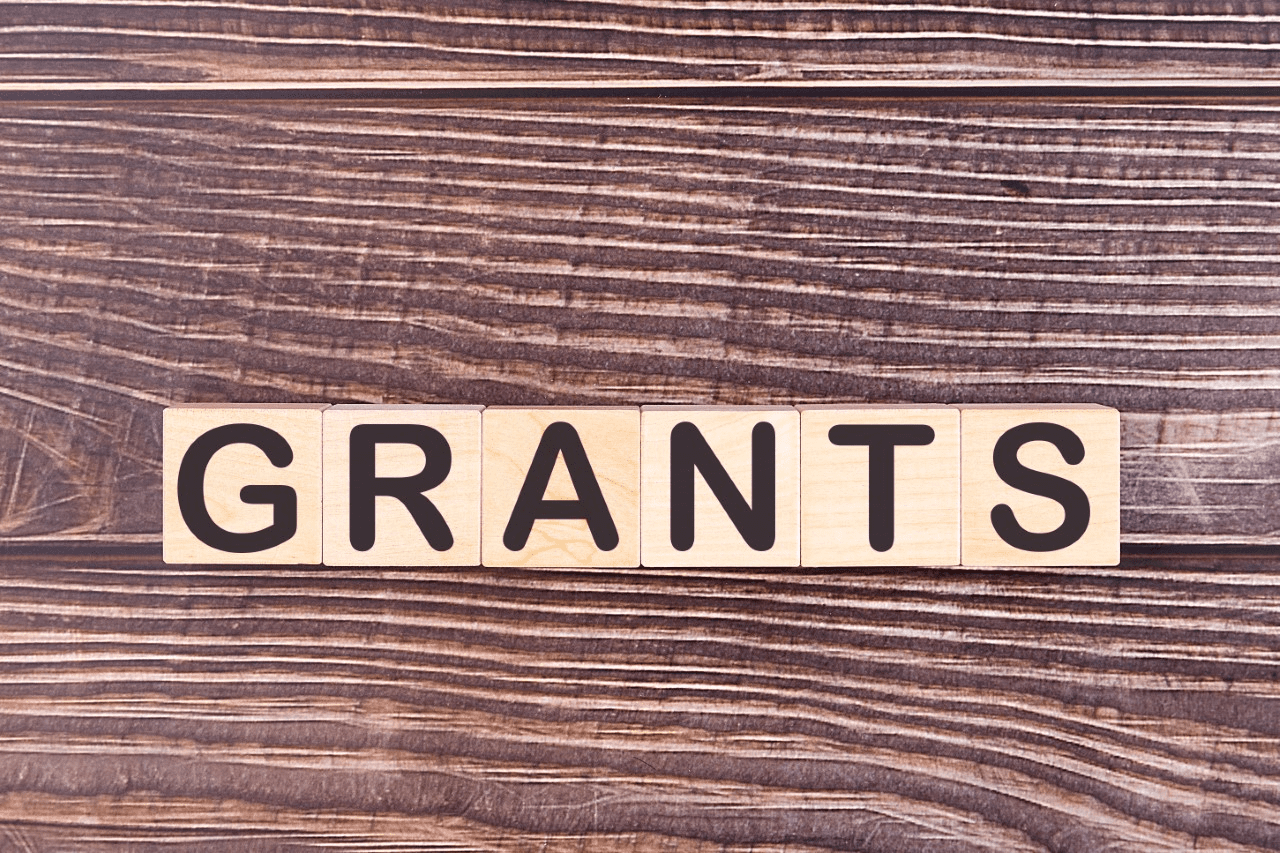 Wooden letters spelling out the word grants