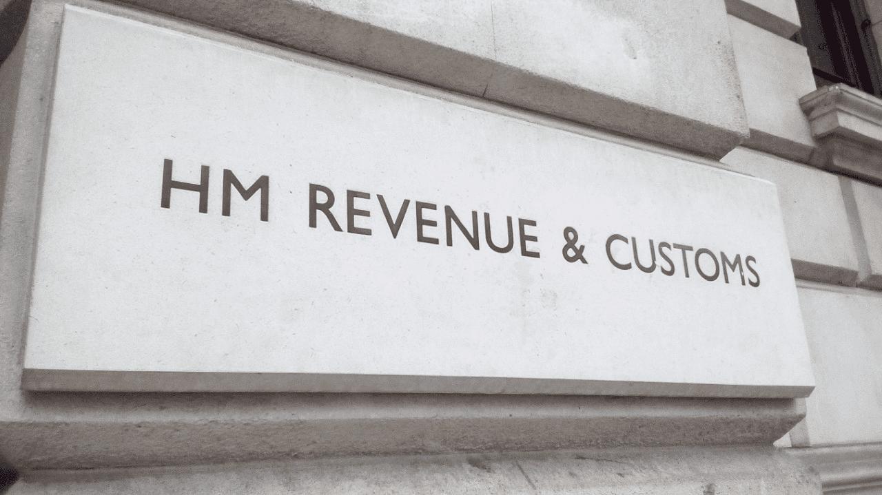 HMRC sign made of stone