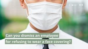 employee wearing mask