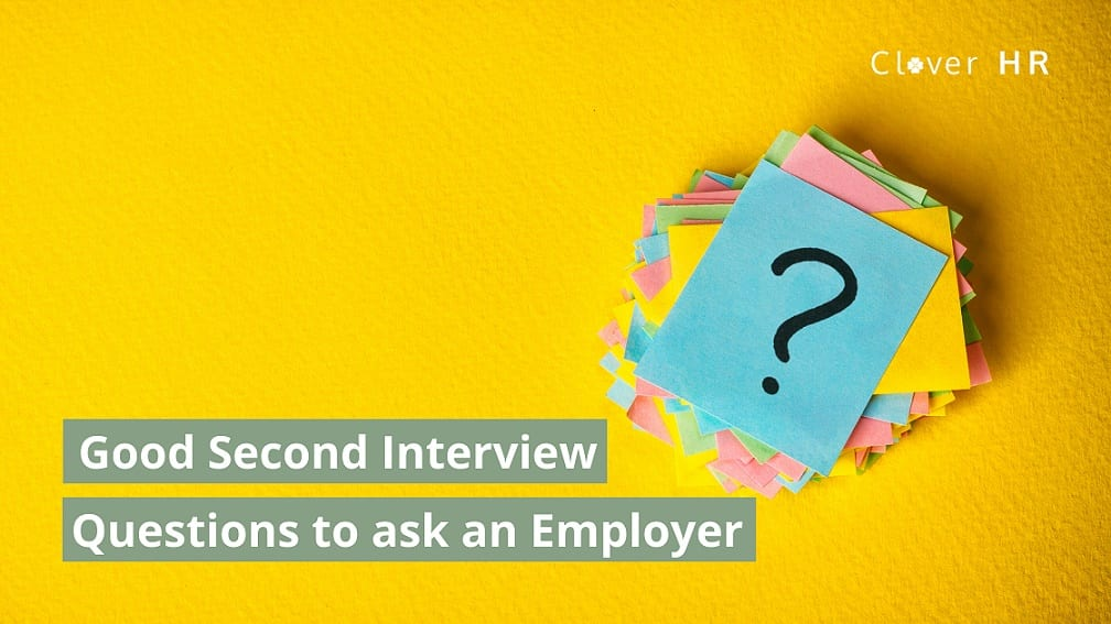 good 2nd interview questions poster