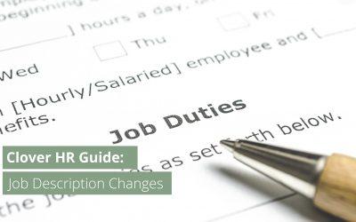 Employer Guide: Job Description Changes